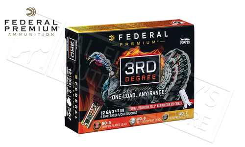 "Federal 3rd Degree Turkey Shells 12 Gauge 3.5"" 1-3/4 oz. Load Mixed 5/6/7 Shot #PTDX139567"