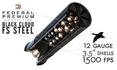 "Federal Black Cloud FS Steel with FliteControl Flex Wad 12 Gauge 3.5"" Box of 25 #PWBX134"