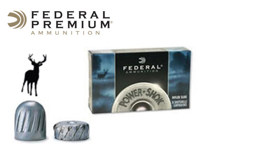 "Federal Power Shok Rifled Slugs 12 Gauge 2-3/4"" 1 oz., Box of 5 #F127RS"