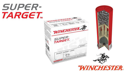 "(STORE PICKUP ONLY) 12 GAUGE - WINCHESTER SUPER-TARGET, #7.5, 2-3/4"", 1 OZ., CASE OF 250"