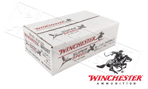 "(STORE PICKUP ONLY) 20 GAUGE - WINCHESTER SUPER SPEED GAME LOADS, 2-3/4"" 7.5 SHOT 7/8 OZ. CASE OF 250"