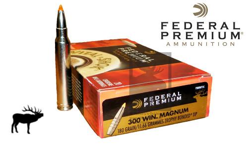 Federal Premium 300 Winchester Magnum Vital Shok, Trophy Bonded Tip 180 Grain Box of 20 #P300WTT1C