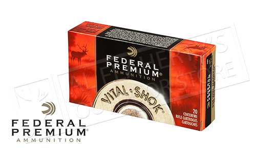 Federal Premium 30-06 Springfield Vital Shok, Nosler Partition 165 Grain Box of 20 #P3006AD