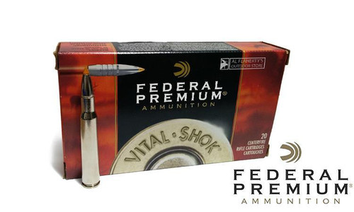 Federal Premium 30-06 Springfield Vital Shok, Trophy Bonded Tip 180 Grain Box of 20 #P3006tt1