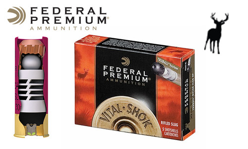 "Federal Vital Shok TruBall Rifled Slugs 20 Gauge 2-3/4"", Box of 5 #PB203RS"