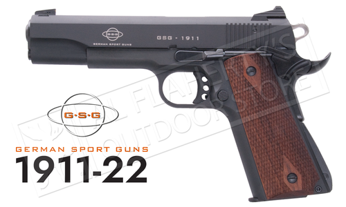 GSG 1911 22LR Government Frame with Faux-Wood Grips #1911STDWNT