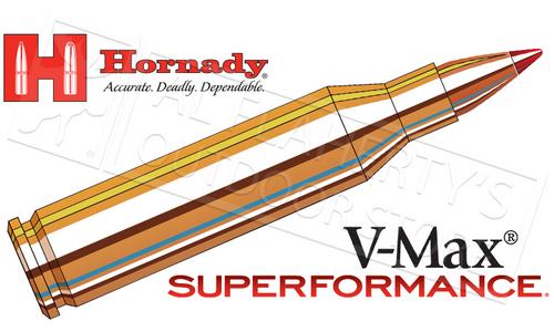 Hornady 243 WIN Superformance, V-Max 58 Grain Box of 20 #8343