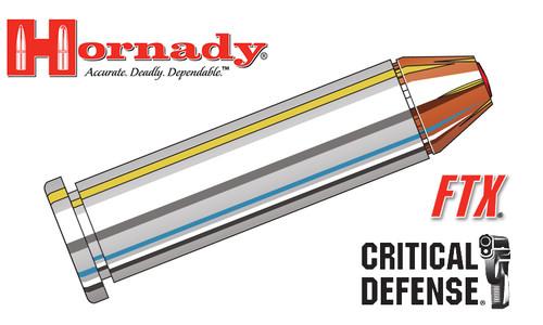 Hornady 357 Magnum Critical Defense, FTX 125 Grain Box of 25 #90500