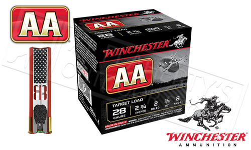 "28 GAUGE - WINCHESTER AA SHOTSHELLS, 2-3/4"" #9 SHOT"