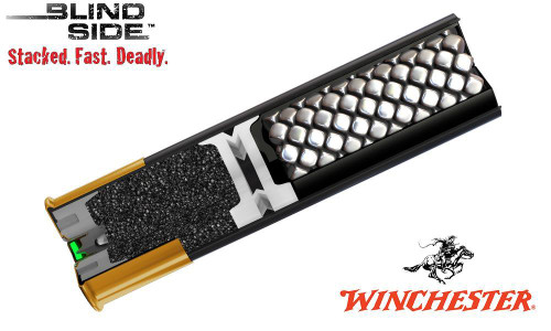 "WINCHESTER ELITE BLIND SIDE WATERFOWL SHELLS, 3-1/2"" #BB, & 2 SHOT, 1-5/4 OZ., 1400 FPS, BOX OF 25"