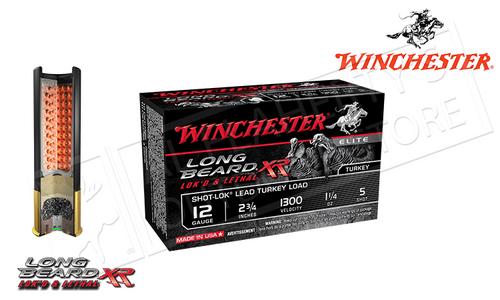 "WINCHESTER ELITE LONG BEARD XR TURKEY SHELLS, 2-3/4"" 1-1/4 OZ. #5 SHOT, 1300 FPS, BOX OF 10"