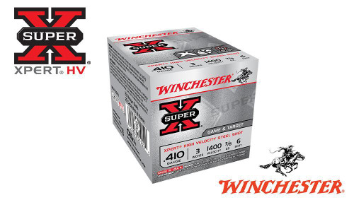 "WINCHESTER SUPER X XPERT HIGH VELOCITY WATERFOWL SHELLS, 3"" #6 SHOT, 3/8 OZ., 1400 FPS, BOX OF 25"