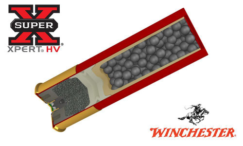"""WINCHESTER SUPER-X XPERT HIGH VELOCITY WATERFOWL SHELLS, 2-3/4"""" #BB, 2, 3, OR 4 SHOT, 1-1/16 OZ., 1550 FPS, BOX OF 25"""