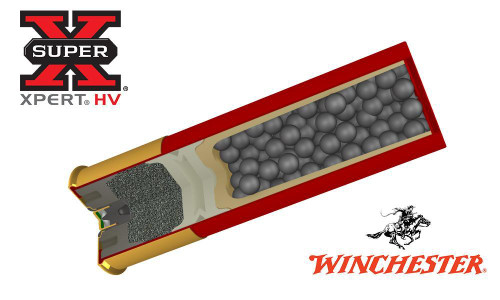 """WINCHESTER SUPER-X XPERT HIGH VELOCITY WATERFOWL SHELLS, 3"""" #BB, 1, 2, 3, OR 4 SHOT, 1-1/4 OZ., 1400 FPS, BOX OF 25"""