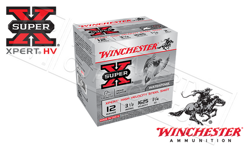 "WINCHESTER SUPER-X XPERT HIGH VELOCITY WATERFOWL SHELLS, 3-1/2"", #BB 1-1/4 OZ. 1625FPS, BOX OF 25"