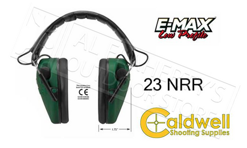 CALDWELL E-MAX LOW-PROFILE HEARING PROTECTION ELECTRONIC #487557
