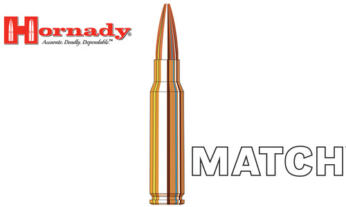 Hornady 308 WIN Match, BTHP 168 Grain Box of 20 #8097