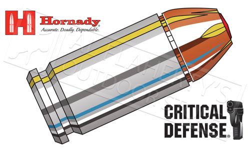 Hornady 380 Auto Critical Defense, FTX 90 Grain Box of 25 #90080