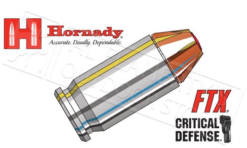 Hornady 45ACP Critical Defense, FTX 185 Grain Box of 20 #90900