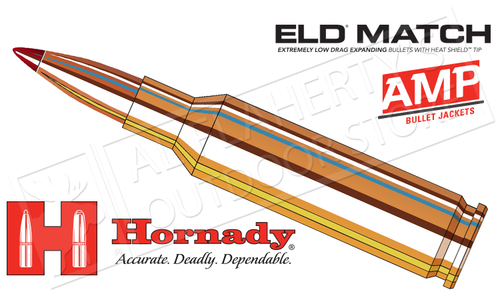 Hornady 6.5 Creedmoor ELD Match, Polymer Tipped 140 Grain Box of 20 #81500