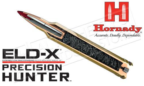 Hornady 6.5 Creedmoor Precision Hunter, ELD-X 143 Grain Box of 20 #81499