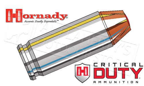 Hornady 9mm Critical Duty, FlexLock 135 Grain Box of 25 #90236