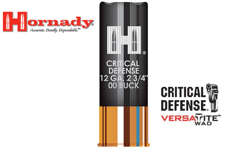 "Hornady Critical Defense Buckshot 12 Gauge 2-3/4"" #00 Buck, Box of 10 #86240"