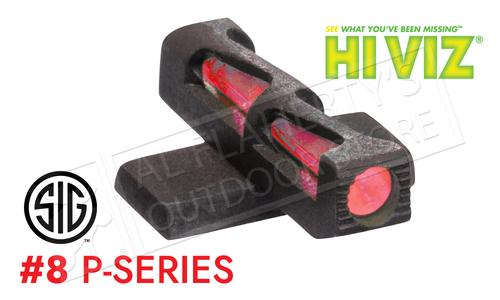 HiViz Litewave Fiber Optic Front Sight #8 for SIG P-Series Pistols #SGLW08