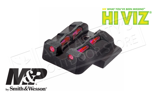HiViz LITEWAVE Fiber Optic Rear Sight S&W M&P Full Compact and Pro Series Pistols #MPLW11