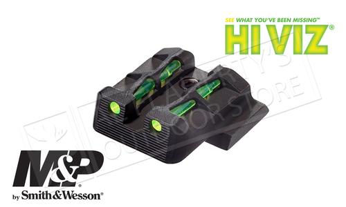 HiViz LITEWAVE Fiber Optic Rear Sight S&W M&P Full Compact and Pro Series Pistols #MPLW11