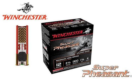 """WINCHESTER SUPER PHEASANT MAGNUM SHELLS, 12 GAUGE - 2-3/4"""", 1-3/8 OZ. #4, 5, OR 6 SHOT, 1300 FPS, BOX OF 25"""