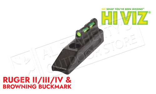 HiViz Litewave Interchangeable Front Sight for Ruger MKII/MKIII & Browning Buckmark Pistols #HRBLW01