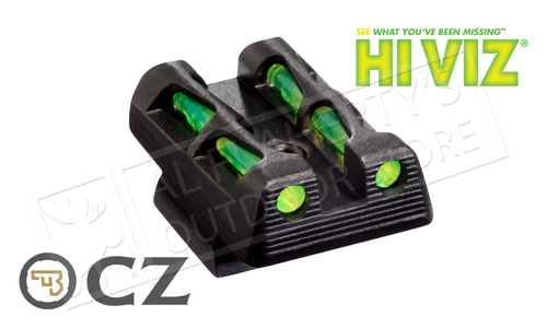 HiViz LiteWave Interchangeable Rear Sight for CZ-75/85 & P-01 #CZLW11