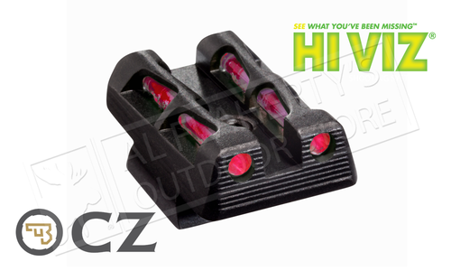 HiViz LiteWave Interchangeable Rear Sight for CZ-75/85 & P-01 #CZLW11