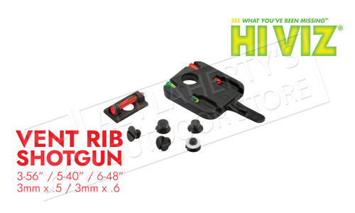 HiViz Mini-Comp Front Sight for Vent Ribbed Shotguns with Removable Front Bead #PM2011
