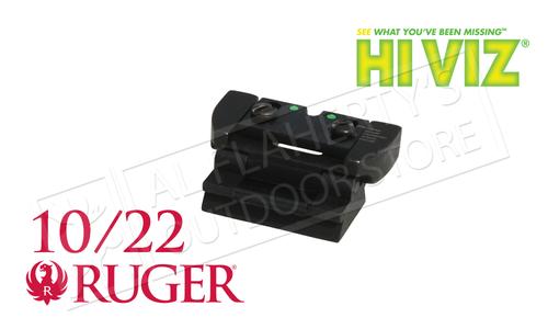HiViz Ruger 10/22 Fiber Optic Rifle Sight Set #RG1022