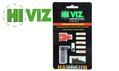 HiViz Ruger Mark II/III and Browning Buckmark Pistol Fiber Optic Front Sight Kit #HRB2007