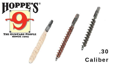 Hoppe's 3-Pack Brush & Swab Rod-End Kit, .30 Caliber #1456BK