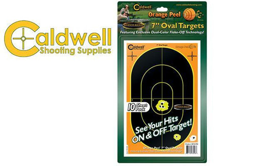 "CALDWELL ORANGE PEEL OVAL 7"" TARGET PACK OF 10 #878998"