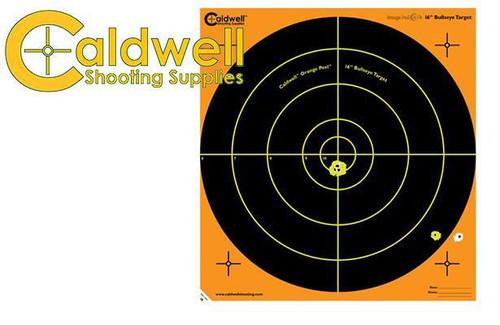 """CALDWELL ORANGE PEEL BULLSEYE 16"""" TARGET PACK OF 10 #172510"""