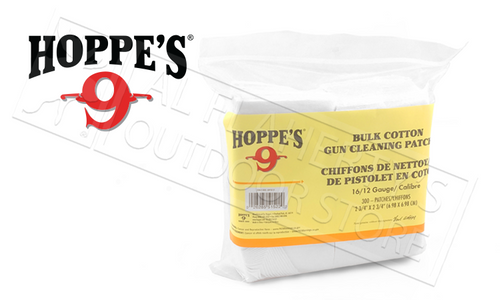 Hoppe's Cleaning Patches 16 to 12 Gauge, Bulk 300 Pack #1205S
