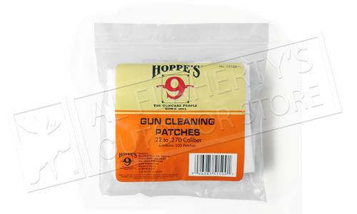 Hoppe's Cleaning Patches .22 to .270 Caliber, Bulk 500 Pack #1202s