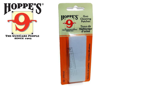 Hoppe's Cleaning Patches .22 to .270, 60 Pieces #1202