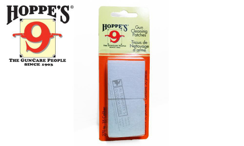 Hoppe's Cleaning Patches .270 to .35 Caliber, 50 Pieces #1203