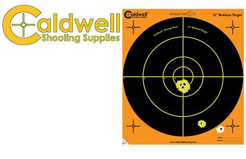 """CALDWELL ORANGE PEEL BULLSEYE 12"""" TARGET PACK OF 100 #121005"""