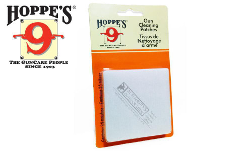 Hoppe's Cleaning Patches 16 to 12 Gauge, 25 Pieces #1205