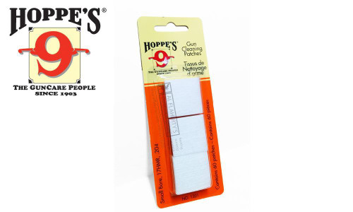 Hoppe's Cleaning Patches 17HMR to .204, 60 Pieces #1201