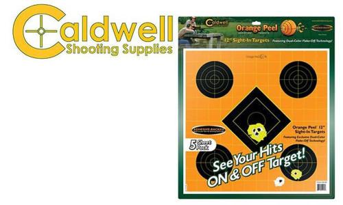 """CALDWELL ORANGE PEEL SIGHT-IN 12"""" TARGET PACK OF 5 #244561"""