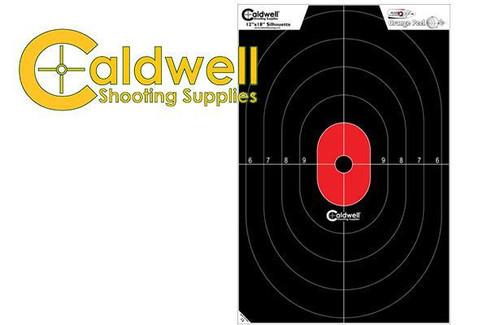 CALDWELL SILHOUETTE TARGET CENTER MASS 25 PACK #128034