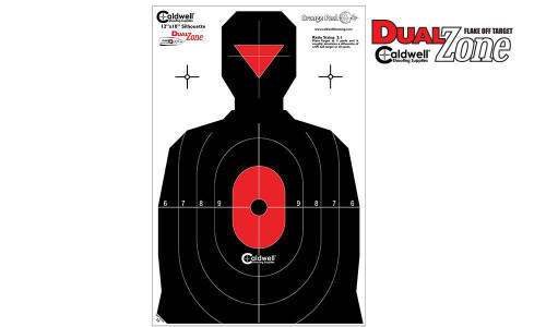 """CALDWELL SILHOUETTE DUAL ZONE TARGET, 12"""" X 18"""" PACK OF 8 #308214"""
